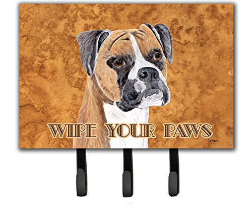 Caroline's Treasures SC9121TH68 Boxer Wipe Your Paws Leash or Key Holder, Large, ()