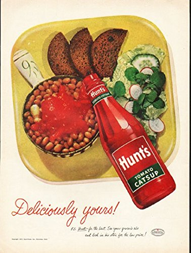 1953 Hunt's Tomato Catsup Ad