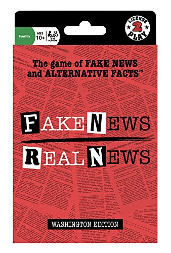 Licensed 2 Play Fake News Real News Card Game