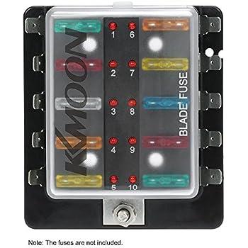 amazon com dc 32v 10 way terminals circuit car auto blade fuse box block holder atc ato with Auto Fuse Box Replacement Home Fuse Replacement