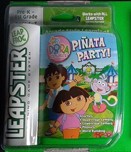 - Leap Frog Leapster Learning Game System Cartridge of DORA THE EXPLORER PINATA PARTY!