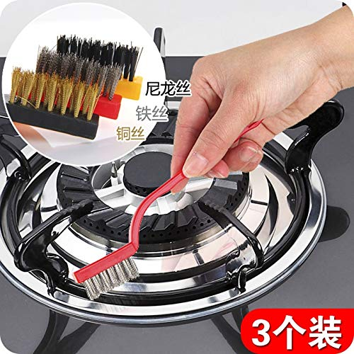 Stove Pipe Brush With New Design 2019, 3pcs/set Gas Stove Clean Brush Iron Fiber - Rutland Stove Paint, Pellet Stove Cleaning Tools, Small Iron Stove, Copper Cleaning Brushes, Home Gas Stove