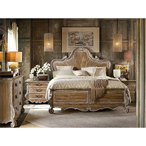 Hooker Furniture Chatelet 3 Piece King Wood Panel Bed Set in Light Wood ()