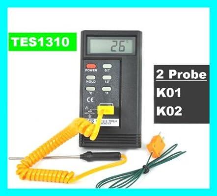 eDealMax -50-200C DC 60V 24V AC K Tipo de pantalla LCD Sensor de temperatura del termómetro Digital