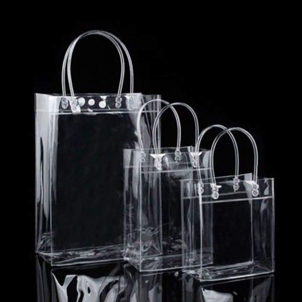 Yamalans Clear PVC Tote Bags Friendly Purse Shoulder Handbag PVC Transparent Plastic Gift Pouch Specification Four