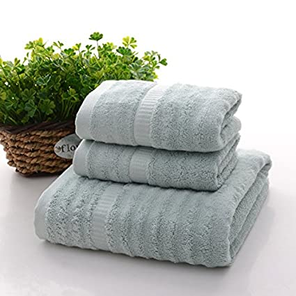 Toallas absorbentes, 60% bambú y 40% algodón. Juego de