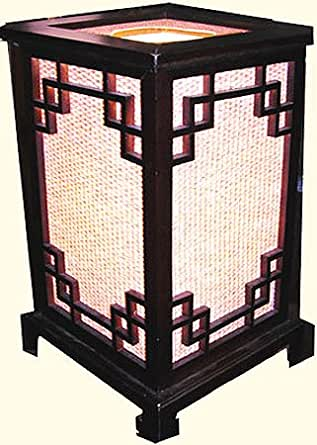Bali oriental table lamp 12 inches high for 12 inch high table