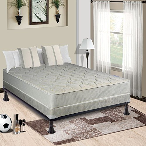 Continental Sleep Mattress, 8-Inch Fully Assembled Orthopedic Mattress With 4-Inch Box Spring, Full ()