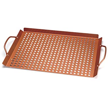 Outset QN71 Copper Nonstick Large 17  x 11  Grill Grid with Handles