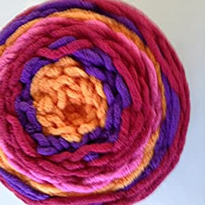 Amazon Com Yarnspirations Bernat Blanket Stripes Yarn Juicy Stripes 10 5 Ounces