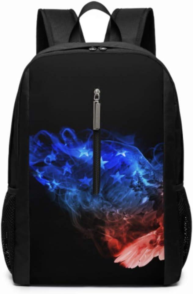 Beautiful Image Bald Eagle Animal Kingdom 17 Inch Laptop Casual Rucksack Waterproof School Backpack Daypacks,Book Bags Unisex Backpack