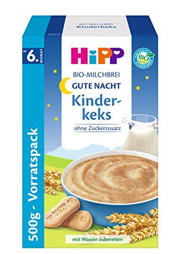 Hipp Gute Nacht Bio-Milchbrei Kinderkeks, 1er Pack (1 x 500g) 388329 Baby Pantry