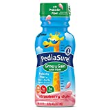 PediaSure Grow & Gain with Fiber Nutrition Shake For Kids, Strawberry, 8 fl oz (Pack of 12)