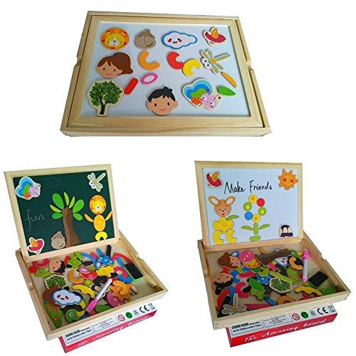 Rompecabezas caja de madera magn tica de tablero educativo pizarra para ni os de 3 a os - Caja rompecabezas ...
