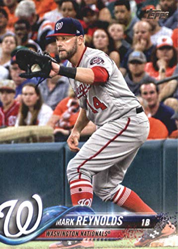 - 2018 MLB Topps Update US62 Mark Reynolds Washington Nationals Official Baseball Trading Card
