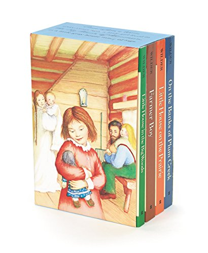 Little House 4-Book Box Set: Little House in the Big Woods, Farmer Boy, Little House on the Prairie, On the Banks of Plum Creek (Full House Our Very First Christmas Show)