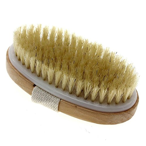 'Touch Me' Dry Skin Body Brush - Natural Bristle - Remove Dead Skin And Toxins, Cellulite Treatment ,Exfoliates, Stimulates Blood Circulation, Promote Healthy Glowing Skin