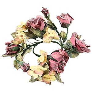 "Shinoda Design Center 4"" Beauty Rose & Hydrangea Candle Ring 63"