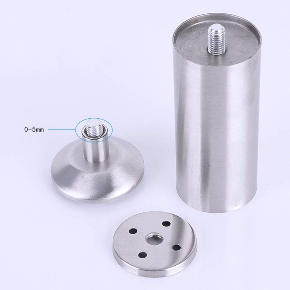 bathroom cabinets and other furniture replacement legs coffee table anti-corrosion with mounting screws//Silver // 60mm anti-rust stainless steel adjustable sofa 4/×Furniture legs
