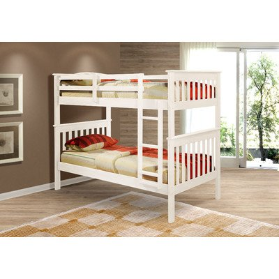 Twin Over Twin Mission Bunkbed in (Mission Style Twin Footboard)