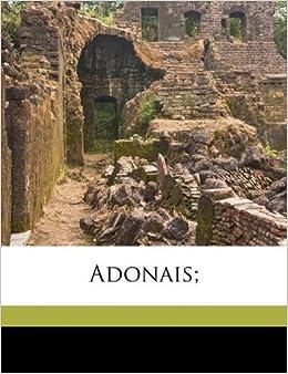 Book Adonais;