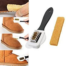 Double Sides Cleaning Brush Rubber Eraser Set for Suede Nubuck Shoes Boot Cleaner