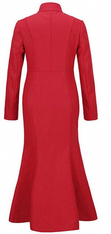 Alion Women Winter Pure Color Wool Pea Coat [ZDC_3059368] - $27.99