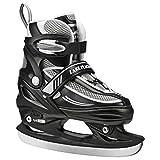 Lake Placid Summit Boys Adjustable Ice Skate, Black/White, Large/5-8 by Lake Placid