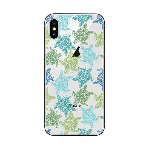 iPhone Xs Max Case,Blingy's New Clear Cute Animal Style Protective Soft TPU Rubber Case Compatible for iPhone Xs Max (Green Turtles)