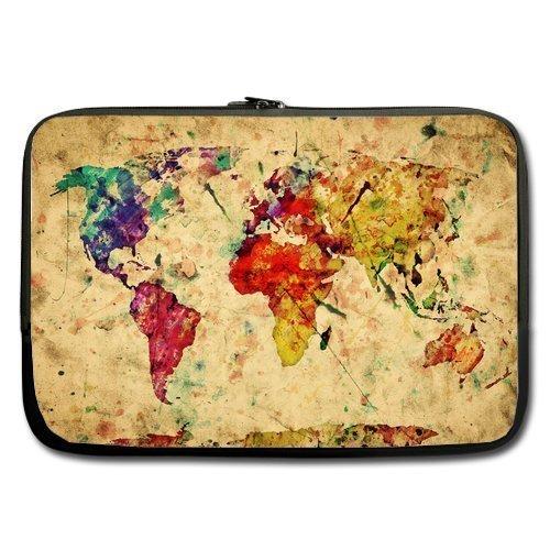 Amazon coody vintage retro style world map laptop sleeves 13 amazon coody vintage retro style world map laptop sleeves 13 133 inch compatible for apple macbook proairsamsung 900x3 530 535u3dell vostro gumiabroncs Gallery