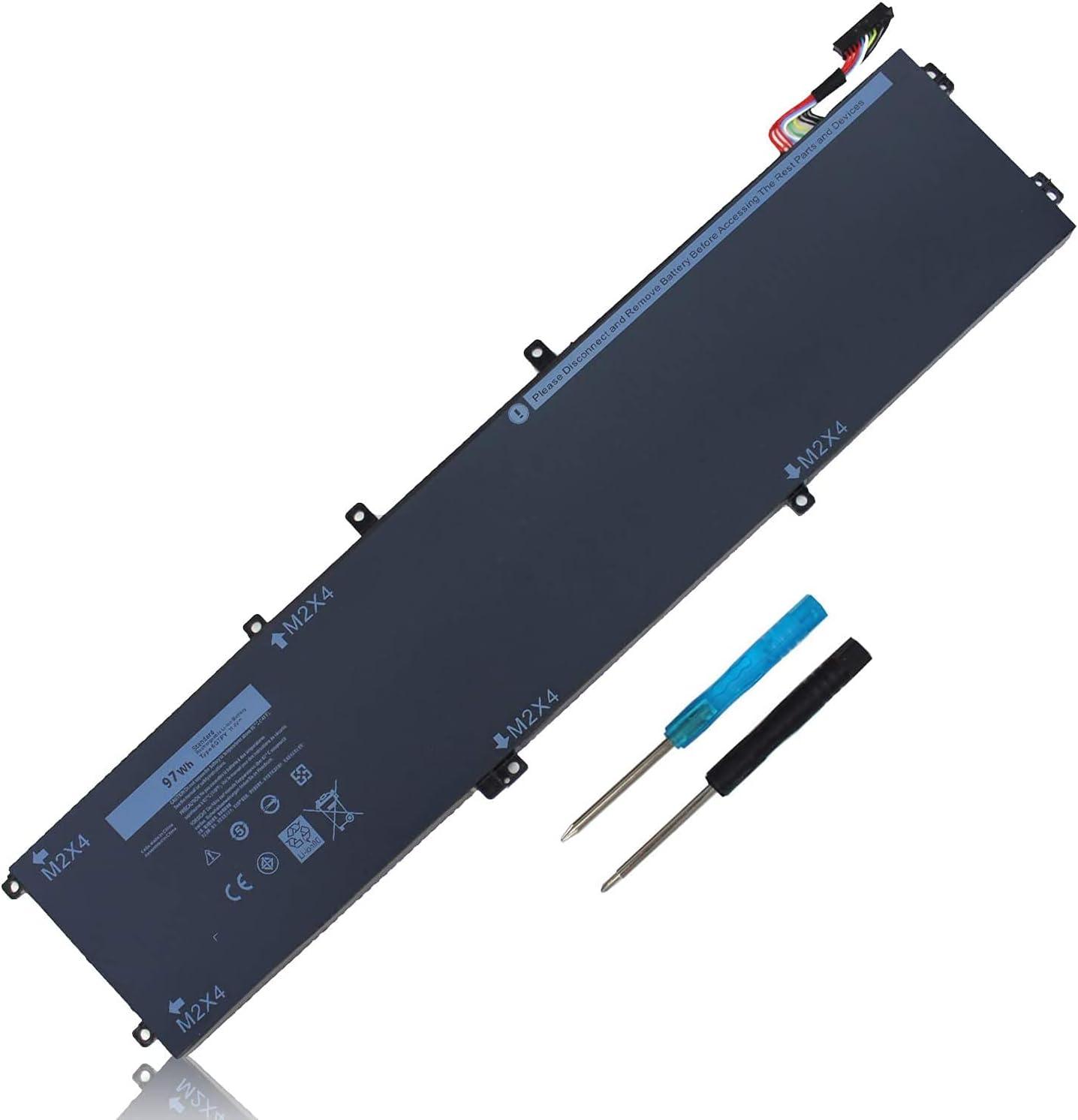 97Wh 6GTPY Battery for Dell XPS 15 9550 9560 9570 7590 P56F P56F001 P56F002 GPM03, Precision 5510 5520 5530 5540 M5520 M5510 Workstation Replacement, Vostro 7500 7590, M2X4 5XJ28 05XJ28 5D91C