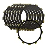 AHL 8pcs Clutch Friction Plates Kit for Yamaha XVZ1300 Royal Star Venture/Tour Classic 2003-2013