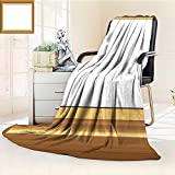 Decorative Throw Duplex Printed Blanket Photo Frame with Simple Borders Warm Microfiber All Season |Home, Couch, Outdoor, Travel Use/86.5'' W by 59'' H