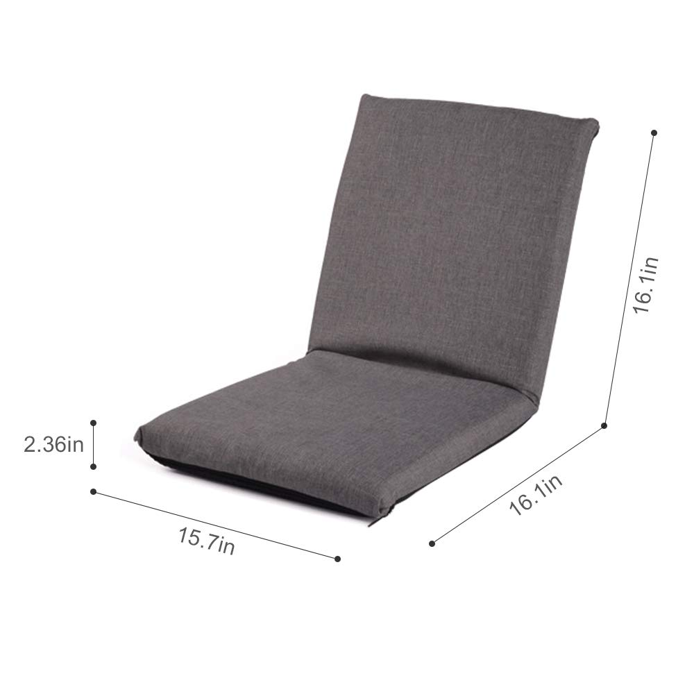 FOME HOME Adjustable 6-Position Memory Foam Kids Folding Sofa Kids Padded Gaming Chair Lounge Chair Floor Sofa Indoor Comfortable Back Support for a Reading Playing Watching TV Kids Floor Chair