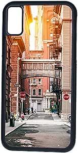 ديكالاك كفر حماية لهاتف ايفون اكس، بتصميم شارع مدينة نيويورك وقت الغروب