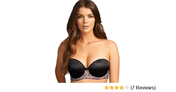 c2648d7fd8c Womens New Freya Deco Darling Underwire Moulded Strapless Bra Noir at  Amazon Women s Clothing store