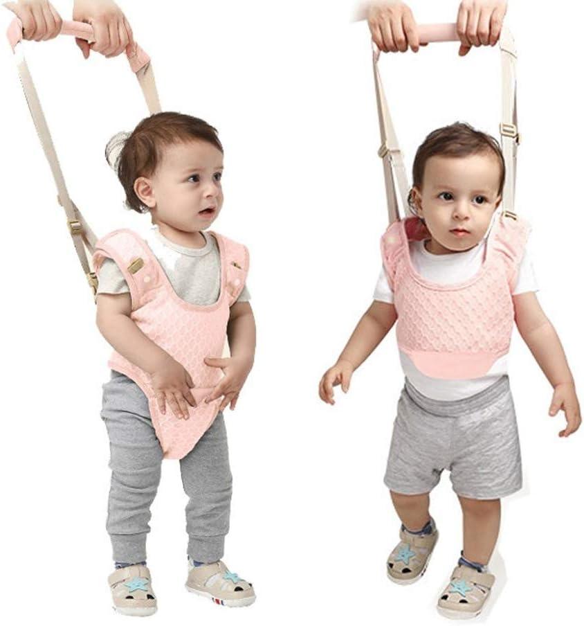 CLINI Bebé Caminar Arnés, 2-in-1 Seguridad Asistente Niños Andador para 7-24 meses, Baby Walking Assistant (Rosa)