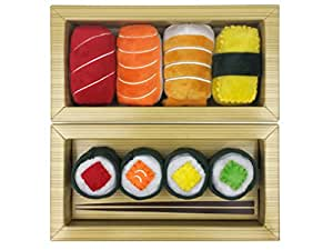 Cat Sushi Toys for Cats | 8 Pc Sushi Set with Catnip, Crinkle Paper and Bell | Great Cat Lover Gift Idea