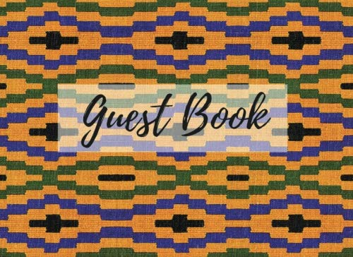 Search : Guest Book: (African Fabric (12), Event Guest Book, For Events, Anniversary, Retirement Party, Wedding, Birthday,101 pages - [Professional Binding]