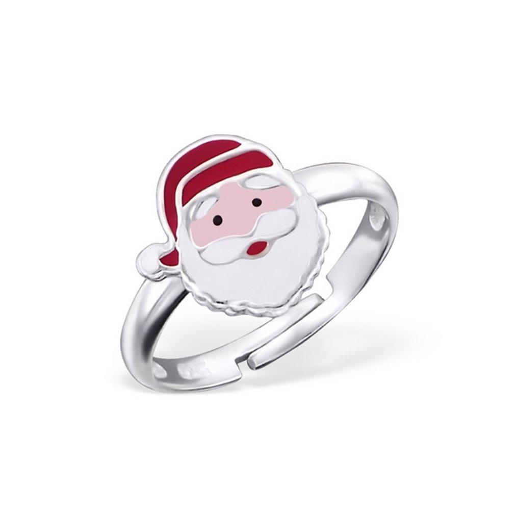 Liara Kinder Weihnachtsmann Ring 925 Sterling Silber./Poliert und Nickelfrei