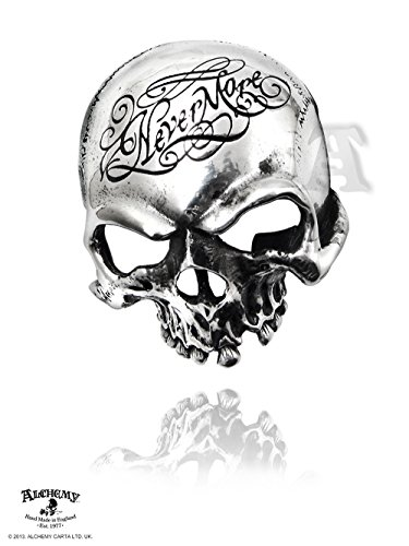 (Nevermore Skull Belt Buckle by Alchemy Gothic)