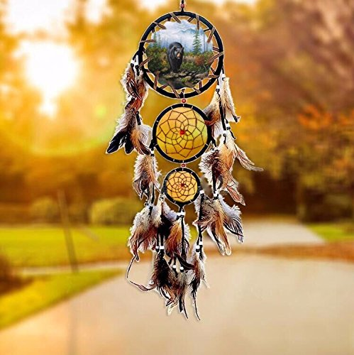 EXDJ Pure handmade Oil painting Totem Dream Catcher,