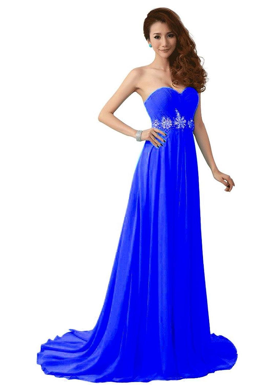 Beauty-Emily Frau Polyester langen Abend prom Kleider,Königsblau,Größe 42