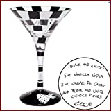 Discontinued Lolita Glassware Martini - Black and White