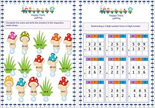 Happy Trails Maths Worksheets For Class 2 For 1st Term , Grade 2 Loose Leaf  Worksheets/Workbook: Amazon.in: Happy Trails: Books