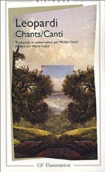 Book's Cover ofChants : Edition bilingue français-italien