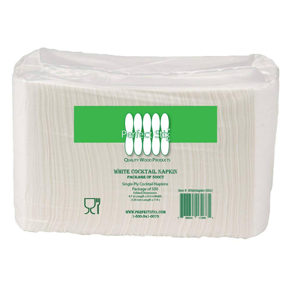 1 Ply White Beverage Napkins (Pack of 500ct)