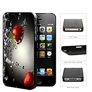 Strawberries With Water Splashing Hard Plastic Snap On Cell Phone Case Apple iPhone 4 4s by supermalls