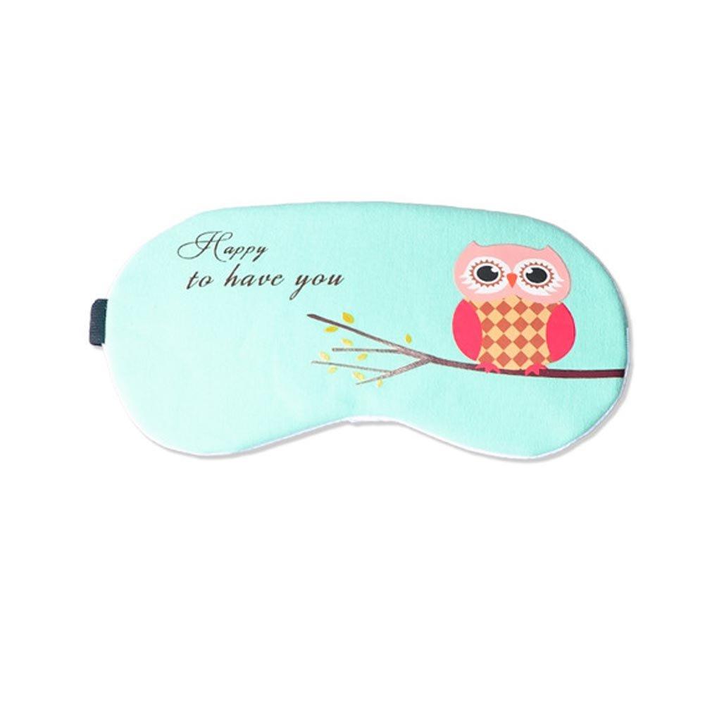 ACTLATI Soft Cute Sleeping Eye Patch Cartoon Sleep Aid Cover Anime Owl Eye Mask Breathable Blindfold With Ear Plugs ACTLATI-MPA259K@1