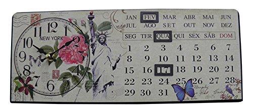 Relogio Calendario De Mesa New York Vintage Retro Decoracao (XIN-06)